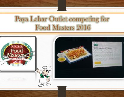 Singapore Food Masters Contest (24/7/2016-22/8/2016)