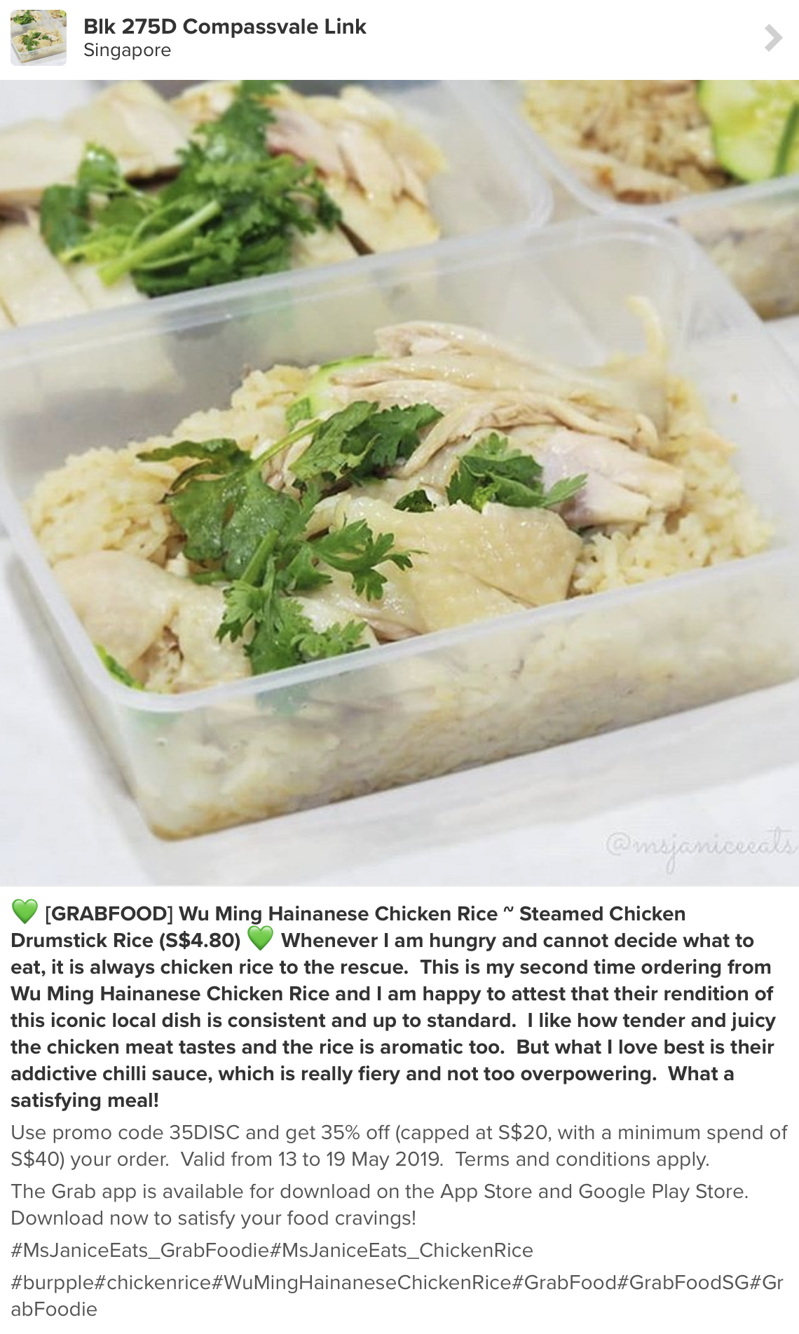 chicken rice review